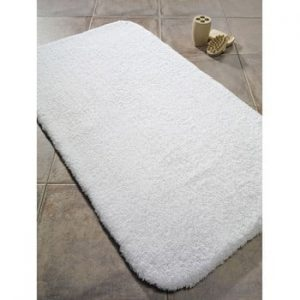 Covoras de baie din bumbac Confetti Bathmats Organic 2000, 60 x 80 cm, alb