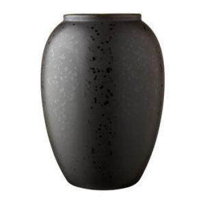 Vaza din gresie ceramica Bitz Basics Black, inaltime 20 cm, negru