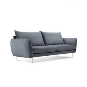 Canapea cu tapiterie din catifea Cosmopolitan Design Florence, gri