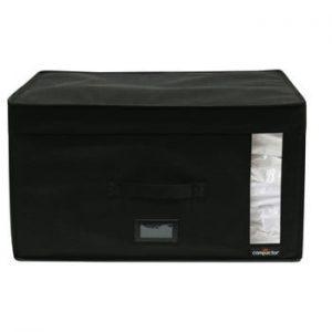 Cutie depozitare cu vacuum Compactor Infinity, capacitate 100 l, negru