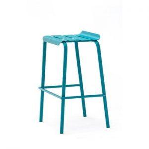 Set 4 scaune de bar pentru gradina Ezeis Alicante, albastru