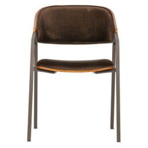 Set 2 scaune BePureHome Clan Velvet, maro