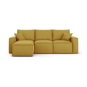 Coltar cu sezlong pe partea stanga Cosmopolitan Design Miami, galben mustar