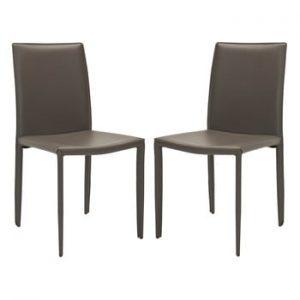 Set 2 scaune Karna, gri