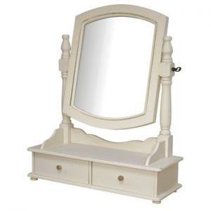 Oglinda de toaleta din lemn de plop Livin Hill Rimini, crem