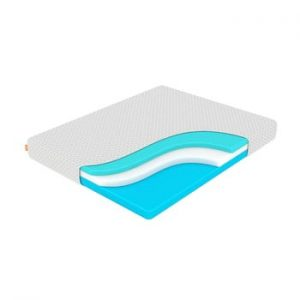 Saltea din spuma cu memorie, fermitate medie-rigida Enzio Wave Transform, 120 x 200 cm, inaltime 22 cm