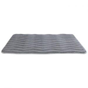 Covor de baie cu spuma de memorie Wenko Light Grey, 80 x 50 cm, gri deschis