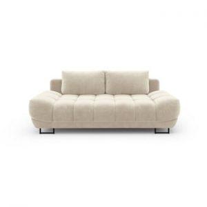 Canapea extensibila cu invelis de catifea cu 3 locuri Windsor & Co Sofas Cirrus, bej