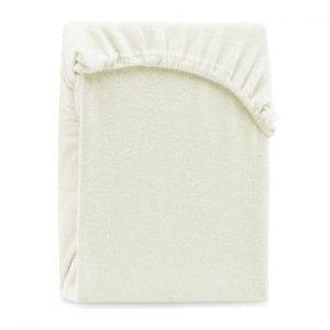 Cearsaf elastic pentru pat dublu AmeliaHome Ruby Ecru, 180-200 x 200 cm, gri - bej