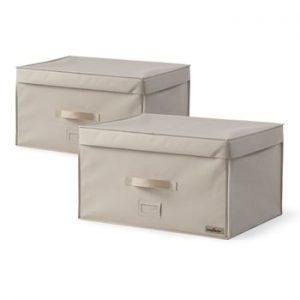 Set 2 cutii de depozitare pentru haine Compactor Family Trunks, 150 l