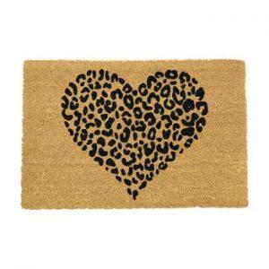 Covoras intrare din fibre de cocos Artsy Doormats Leopard Pint, 40 x 60 cm