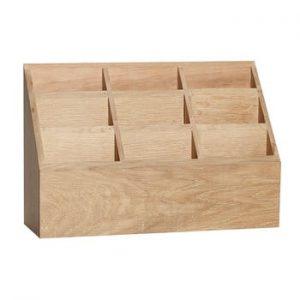 Cutie depozitare din lemn de stejar Hübsch Pattio