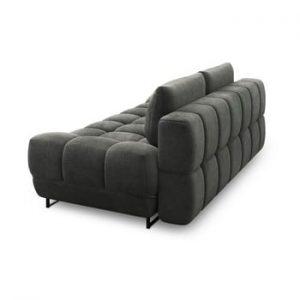 Canapea extensibila cu 3 locuri Windsor & Co Sofas Cumulus, gri inchis