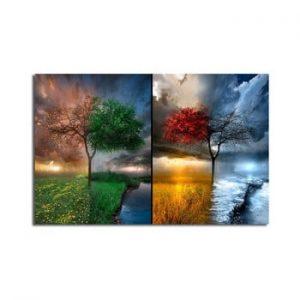 Tablou pe panza Seasons, 70 x 45 cm