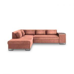 Canapea extensibila cu sezlong pe partea stanga Cosmopolitan Design San Diego, portocaliu
