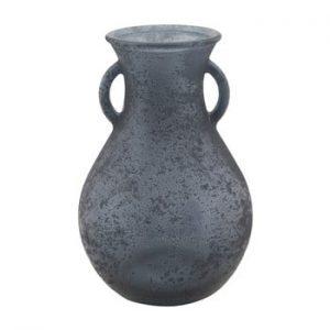 Vaza din sticla reciclata Mauro Ferretti Anfora, ⌀15cm, albastru