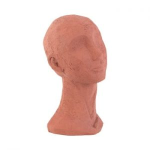 Statueta decorativa PT LIVING Face Art, inaltime 28,4 cm, portocaliu teracota