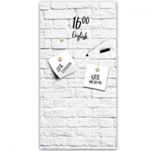Tabla magnetica Styler White Bricks, 30 x 60 cm