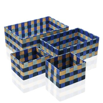 Set 4 cosuri pentru depozitare Versa Blue Bay
