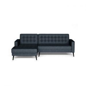 Canapea cu extensie pe partea stanga Corinne Cobson Boston, albastru inchis