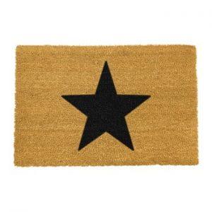 Covoras intrare din fibre de cocos Artsy Doormats Star, 40 x 60 cm