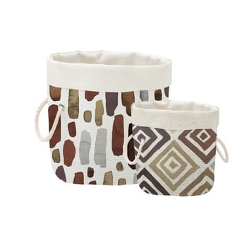 Set 2 cosuri decorative Linen Watercolor Geometric