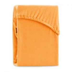Cearsaf elastic pentru pat dublu AmeliaHome Ruby Orange, 180-200 x 200 cm, portocaliu