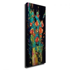 Tablou pe panza Vintage Flowers, 30 x 80 cm