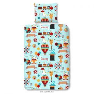 Lenjerie de pat din bumbac pentru copii Good Morning Circus, 140 x 200 cm