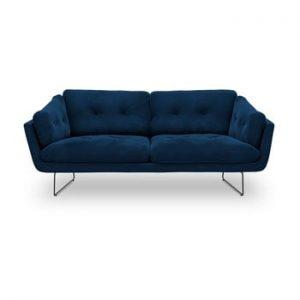 Canapea cu 3 locuri Windsor & Co Sofas Gravity, albastru