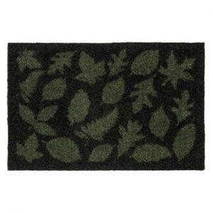 Covoras intrare tica copenhagen Leaves, 40x60 cm, verde inchis