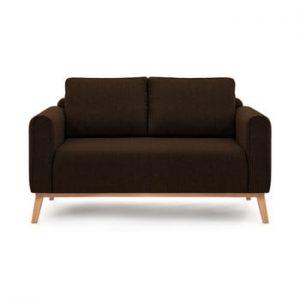 Canapea pentru 2 persoane Vivonita Milton, maro inchis