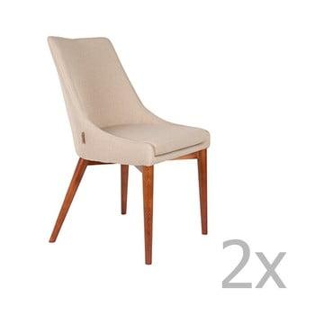 Set 2 scaune Dutchbone Juju, kaki