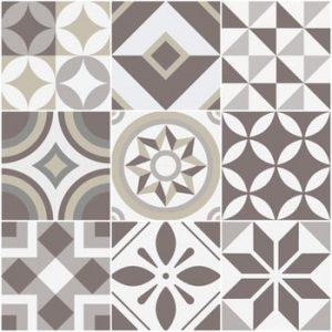 Set 9 autocolante Ambiance Geometrica, 20 x 20 cm