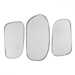 Set 3 oglinzi de perete PT LIVING Concord, alb