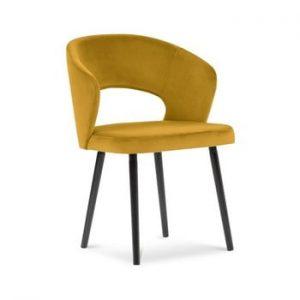 Scaun cu invelis de catifea Windsor & Co Sofas Elpis, galben