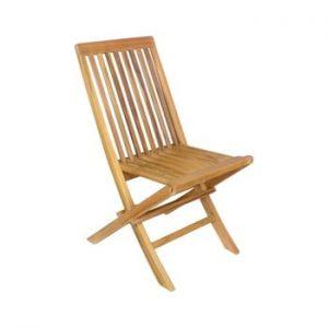 Set 2 scaune pliabile de gradina din lemn de tec Ezeis Sun