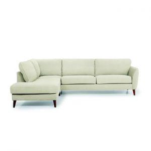 Canapea cu 3 locuri cu sezlong pe partea stanga SoftNord Paris, bej