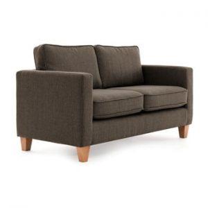 Canapea cu 2 locuri Vivonia Sorio, gri antracit