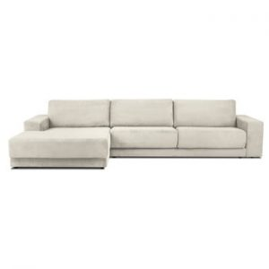 Canapea extensibila XXL pentru 6 persoane Milo Casa Donatella, colt pe stanga, bej