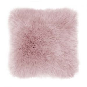Perna Tiseco Home Studio Sheepskin, 45 x 45 cm, roz