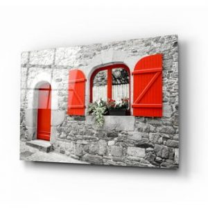 Tablou din sticla Insigne Red Door and Window