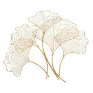 Decoratiune pentru perete Mauro Ferretti Glam Leaf, 79x68cm, auriu