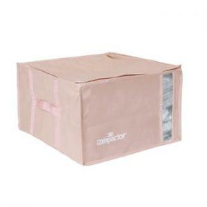 Cutie de depozitare cu vid pentru haine Compactor Pink Edition, 125 l