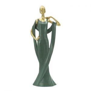 Statueta decorativa din fier Mauro Ferretti Donna, verde smarald