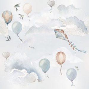 Set autocolante de perete Dekornik Balloons Fairytale