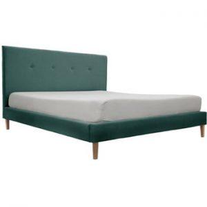 Pat Vivonia Kent 160 x 200 cm, verde - albastru, picioare culoare deschisa