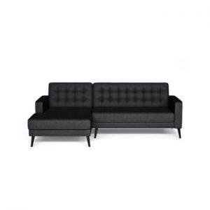Canapea cu extensie pe partea stanga Corinne Cobson Boston, negru antracit