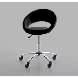 Scaun de birou Actona Plump, negru