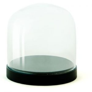 Recipient din sticla Wireworks Pleasure Dome Black, Ø 13 cm